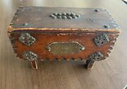 1887 Wee Marrys Bank - Antique Wooden Bank Unique Collectible