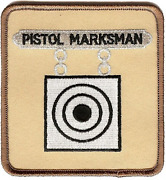 4.5 Pistol Marksman Medal Award Military Embroidered Patch