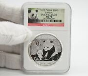 2012 China Panda 1 Oz Silver Coin Ngc Ms70 Early Release Red Panda Label. 289