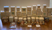 Collection Of 51 Vintage Enesco Cherished Teddies Figurines 41 With Original Box