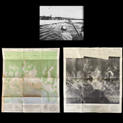 Rare Wwii 1944 And039sentani Dromeand039 Japanese Airfields Double Sided Infantry Map