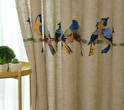 Embroidered Curtains Tulle