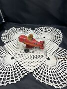 Vintage Marx Tin Wind-up Roll Over Toy Airplane 12 No Front Wings