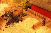 Ho Scale - Material Bins Laser Cut Wood Building Kit Ame-333