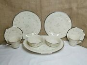 Lenox May Flowers 2 Place Settings 4 Pieces Each Plus Oval Serving Platter