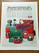 1970 Coleman Camping Ad 9 Great Christmas Gifts Cat Heater Jug Lantern Stove