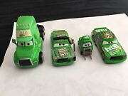 Disney Pixar Cars Lot Rare Chick Hicks And Htb Semi Cab And Wide Pitty And Crew Chief