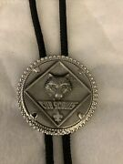 Boy Scouts Of America Wolf Cub Scout Bolo Tie Pewter Black Cord