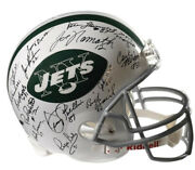 New York Jets - Helmet Signed With Co-signers