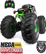 Remote Control All Terrain Monster Truck Lights Kids Toys Grave Digger