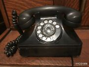 North Electric 1945 Bakelite 302 Telephone For Army Signal Corps Tp-6-a Western