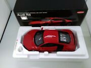 Audi R8 Red 1/18 Scale Kyosho Original Die-cast Model Car With Box Vintage Rare