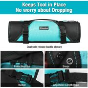 Duratech 22-pocket Tool Roll Up Bag Pouch Socket Wrench Screwdriver Organizer Us