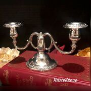 Vintage Sterling Silver 1882 Fb Rogers Silver Co. Weighted Candelabra 964.