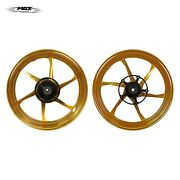 Forged Aluminum Alloy Wheels Rims For Yamaha Yzf-r3 Mt-03 2015 - 2021 Gold
