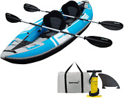 Driftsun Voyager 2 Person Tandem Inflatable Kayak, Includes 2 Aluminum Paddles,