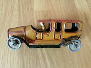 Vintage Germany Fischer Limousine Tin Toy Litho Windup Penny Toy 1920`s