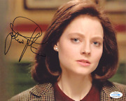 Jodie Foster Signed 10x8 Photo The Silence Of The Lambs Acoa 7410
