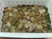 Huge Lot Of 1000, 1920's All D Mint Marked Lincoln Wheat Pennies Estate Find