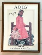American Girl Doll Addy Signed By Author Connie Porter Vintage Framed Poster