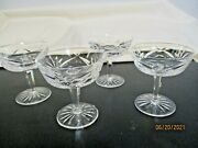 Set Of 4 Waterford Crystal Ashling Tall Sherbet Or Champagne Glasses