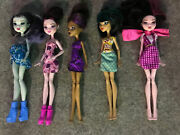 Monster High Doll Mixed Lot 5 Total, Clothes Shoes Dated 2008-2015 Mattel
