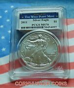 2011-w American Silver Eagle Pcgs Ms70 1 Flashy White And A Great Strike 👀