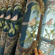 Bird Embroidery Curtains Semi-blackout Tulle Sheer For Living Room Chenille Tool