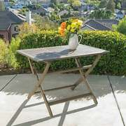 Positano Outdoor Acacia Wood Folding Dining Table By Natural