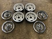 1969 69 Camaro 14x6 Xn Rally Wheels With Trim Set Of 5 Date Matched Read