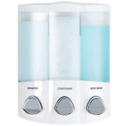 Better Living Products White 76354 Euro Series Trio 3-chamber Soap And Shower