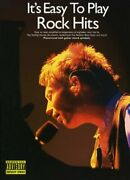 It's Easy To Play Rock Hits By Divers Auteurs Paperback Book The Fast Free