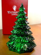 Waterford Crystal Green 6 1/2 Christmas Tree Sculpture Figurine - New In Box