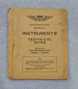 1918 Instruction Manual Instruments Technical Notes - Air Signal Corps