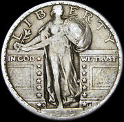 1919-d Standing Liberty Quarter Dollar ---- Nice Condition Us Coin ---- R286