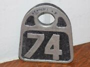 Vintage Hasco Newport Ky Cattle Double Sided Embossed Metal Tag