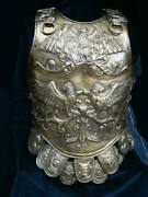 18 Guage Brass Medieval Armor Roman Chiselled Cuirass Reenactment Breastplate