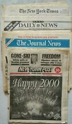 Rare - Lot 4 New York Newspapers - January 1 2000 - Pre-owned