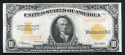 Fr 1173 1922 10 Ten Dollars Gold Certificate Currency Note About Uncirculated