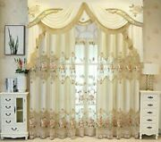Window Curtains Valances Tulles Flowers Embroidery For Living Room Semi-blackout