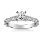 Cressida Diamond Engagement Ring Mounting By Artcarved Solid 14 Karat White Gold