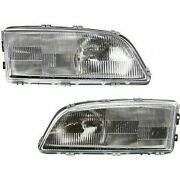 Headlight Set For 98-2002 Volvo V70 98-2000 S70 Left And Right Side W/ Bulb