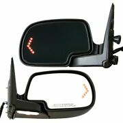 Power Folding Signal Dimming Mirror Pair Set Of 2 For Gmc Chevy Pickup Truck Suv