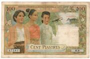French Indochina 100 Piastres Laos Nd 1953 Pick 103