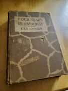 Four Years In Paradise, 1941, First Edition, Osa Johnson