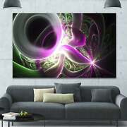 Designart And039light Purple Designs On Blackand039 Abstract Wall Art Small