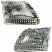 Headlight Set For 97-2003 Ford F-150 97-99 F-250 97-2002 Expedition Left And Right
