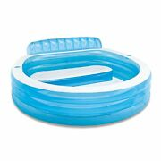 Intex Swim Center Inflatable Family Lounge Pool 90 X 86 X 31 For Ages 3+