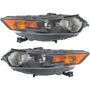 Headlight Set For 2009-2014 Acura Tsx Left And Right Hid 2pc