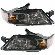Headlight Set For 2006 Acura Tl Usa Built Left And Right 2pc